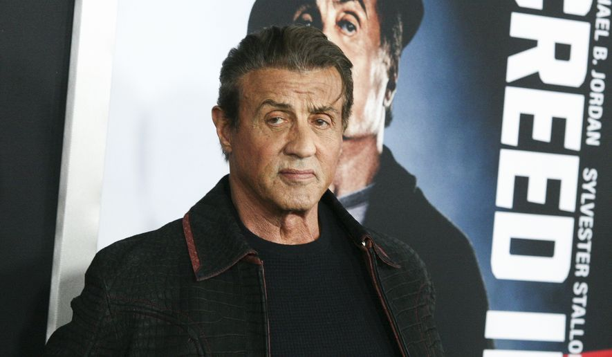 """Sylvester Stallone attends the world premiere of """"Creed II"""" at the AMC Loews Lincoln Square on Wednesday, Nov. 14, 2018, in New York. (Photo by Andy Kropa/Invision/AP)"""