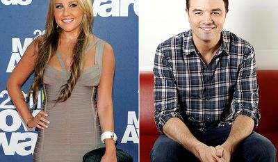 Amanda Bynes and Seth MacFarlane were linked in 2008. At the time he was 34, and she was 22