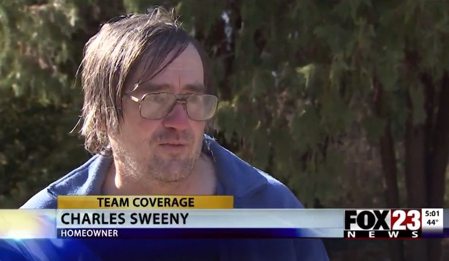 Oklahoma homeowner Charles Sweeny told a local Fox affiliate that he has no remorse for shooting and killing a burglar on Nov. 27, 2018. He stopped a similar attempted burglary five years ago. (Image: Fox23 News video screenshot)