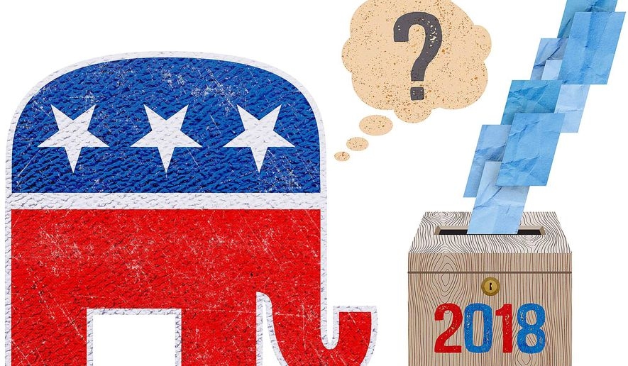 GOP Lessons From 2018 Midterm Elections Illustration by Greg Groesch/The Washington Times