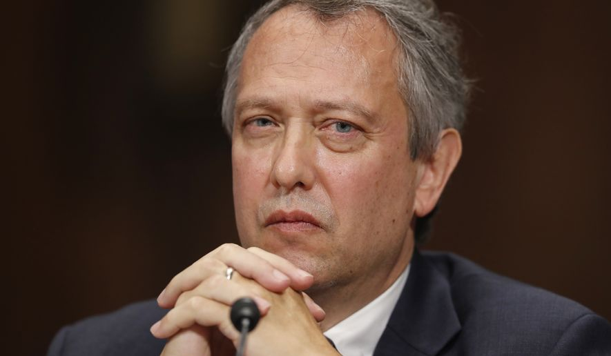 Thomas Alvin Farr is seated during a Senate Judiciary Committee hearing on his nomination to be a District Judge on the United States District Court for the Eastern District of North Carolina, on Capitol Hill, Wednesday, Sept. 20, 2017 in Washington. (AP Photo/Alex Brandon)