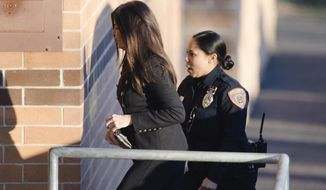 Former Pennsylvania Attorney General Kathleen Kane arrives at the Montgomery County Correctional Facility in Eagleville, Pa., to begin serving a 10- to 23-month perjury sentence, Thursday, Nov. 29, 2018. (AP Photo/Matt Rourke)