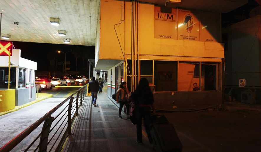 This Nov. 16, 2018 photos shows a view of Grupos Beta building in Matamoros, Mexico, which is part of the National Institute of Migration of Mexico who assist migrants who are at risk regardless of immigration status. (Miguel Roberts/The Brownsville Herald via AP)