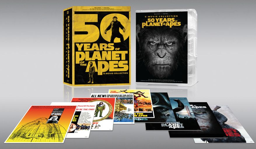 50 Years of Planet of the Apes: 9-movie Collection (Courtesy 20th Century Fox Home Entertainment)