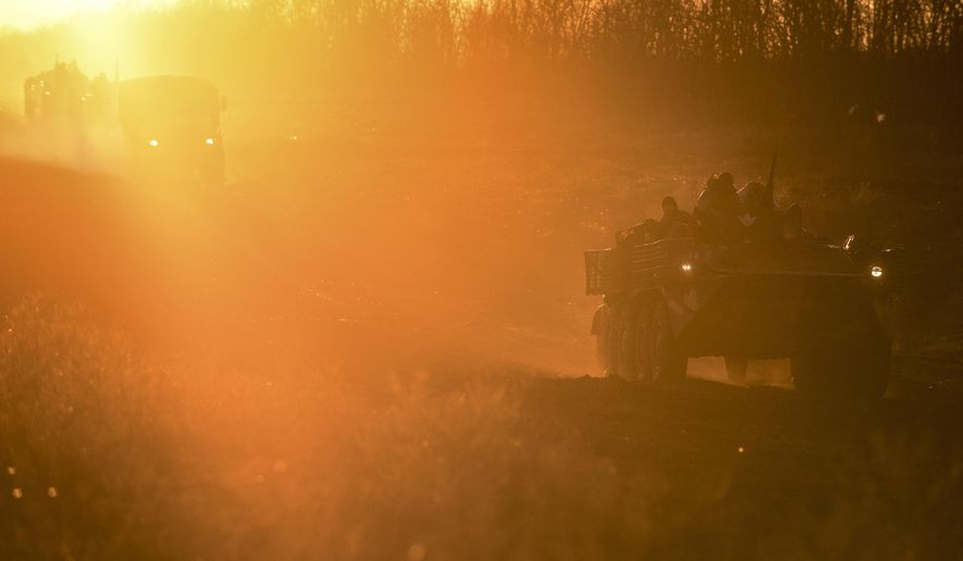 Ukraine put its military forces on high combat alert and announced martial law in November after Russian border guards fired on and seized three Ukrainian ships in the Black Sea, one of the hot spots where U.S. engagement this year can tilt the trajectory of Europe. (Associated Press/File)