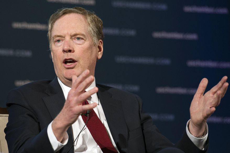 """U.S. Trade Representative Robert Lighthizer linked Zhang Shoucheng's Silicon Valley venture capital firm Danhua Capital to China's """"Made in China 2025"""" technology dominance program days before Zhang's apparent suicide. (Associated Press/File)"""
