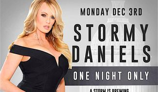 Stormy Daniels returns to Washington, D.C. for a one-night-only show at a nightclub. (The Cloakroom)