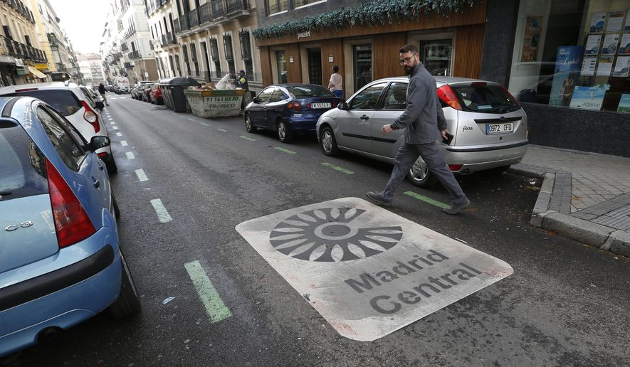 "Madrid's 7-month-old ""congestion pricing"" program, imposed under a liberal government, was suspended until further notice as one of the first acts of the conservative administration of Mayor Jose Luis Martinez-Almeida. (Associated Press/File)"