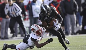 Weber State's Rashid Sadheed carries the football against Southeast Missouri during an NCAA FCS second-round playoff game Saturday, Dec. 1, 2018, in Ogden, Utah. (Den Dorger/Standard-Examiner via AP)