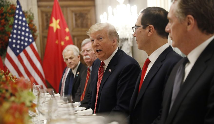 President Donald Trump talks during his bilateral meeting with China's President Xi Jinping, Saturday, Dec. 1, 2018 in Buenos Aires, Argentina. (AP Photo/Pablo Martinez Monsivais) ** FILE **