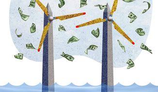 Monumantally Expensive Wind Turbine Illustration by Greg Groesch/The Washington Times