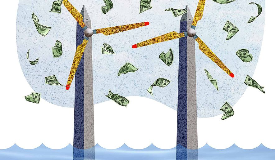 Monumantally Expensive Wind Turbine Illustration by Greg Groesch/The Washington Times