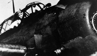 off to war: George H.W. Bush was the youngest torpedo-bomber pilot in the Navy, earning his wings at 18. (White House archives)