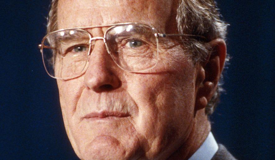 A March 1992 photo of U.S. President George Bush. (AP Photo)