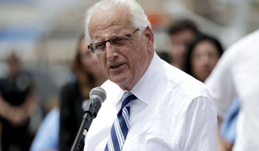 Rep. Bill Pascrell Jr., D-N.J., speaks during a news conference talking about the closing of Toys R Us outside of one of the store locations, Friday, June 1, 2018, in Totowa, N.J. (AP Photo/Julio Cortez) ** FILE **