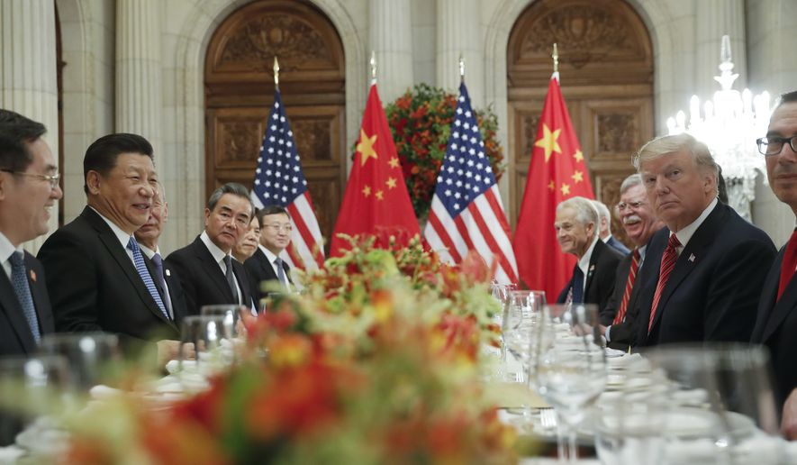 President Donald Trump with China's President Xi Jinping during their bilateral meeting at the G20 Summit, Saturday, Dec. 1, 2018 in Buenos Aires, Argentina. (AP Photo/Pablo Martinez Monsivais)