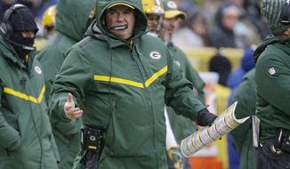 Green Bay Packers head coach Mike McCarthy reacts to a call made on the field during the second half of an NFL football game against the Arizona Cardinals, Sunday, Dec. 2, 2018, in Green Bay, Wis. McCarthy was fired as head coach following the game. (AP Photo/Jeffrey Phelps)
