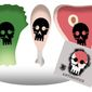 Illustration on scare tactics against farm-produced foods by Alexander Hunter/The Washington Times
