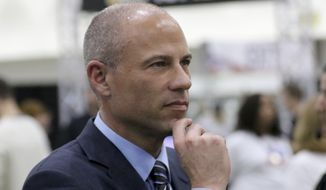 """Michael Avenatti attends the """"Stranger Than Fiction: A Conversation With Cast Members of The West Wing"""" panel at Politicon at the Los Angeles Convention Center on Saturday, Oct. 20, 2018, in Los Angeles. (Photo by Willy Sanjuan/Invision/AP)"""