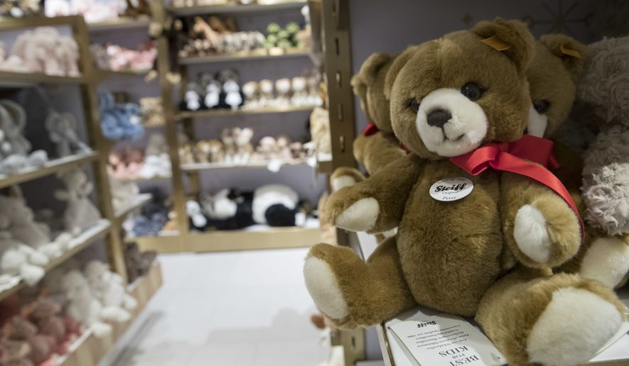 Teddy bears and other plush toys are being left on shelves to make way for new trends. (AP Photo/Mary Altaffer)