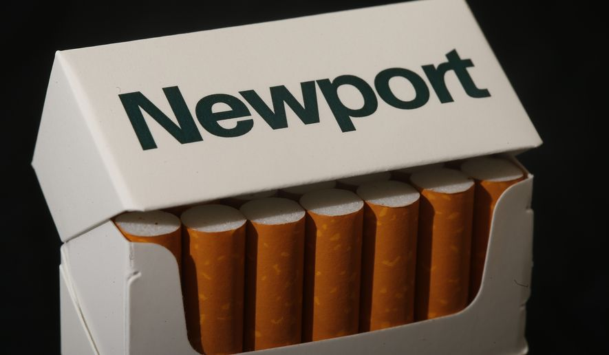 Newport, a Lorillard brand, cigarettes is arranged for a photo Tuesday, July 15, 2014 in Philadelphia. Reynolds American Inc. is planning to buy rival Lorillard Inc. for about $25 billion in a deal to combine two of the nation's oldest and biggest tobacco companies, the companies announced Tuesday. (AP Photo/Matt Rourke)