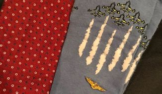 The late George H.W Bush will be buried in socks being a flight of fighter jets, which honor his military service as a U.S. Navy flyer. (Jim McGrath)