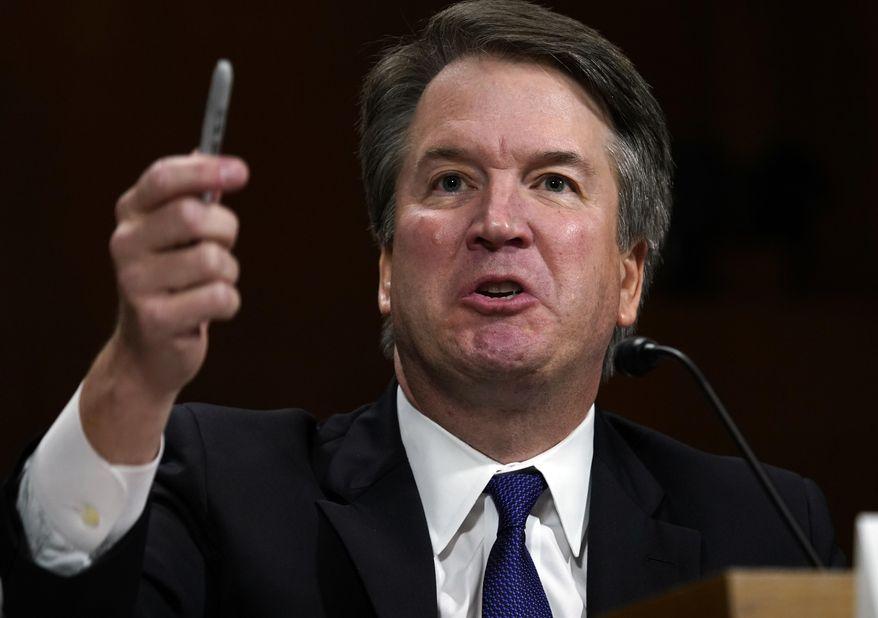 Supreme court nominee Brett Kavanaugh testifies before the Senate Judiciary Committee on Capitol Hill in Washington, Thursday, Sept. 27, 2018. (AP Photo/Andrew Harnik)