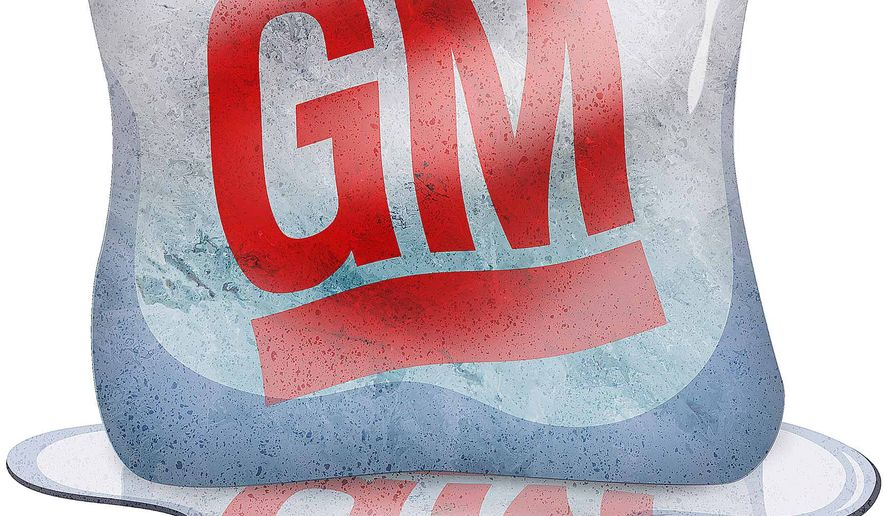 The Melting Away of General Motors Illustration by Greg Groesch/The Washington Times