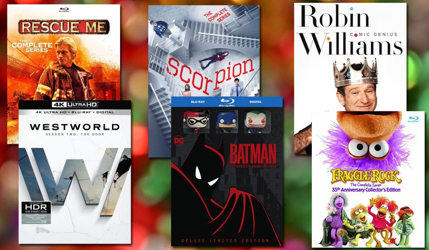 """Gift ideas for television show watchers include """"Rescue Me: The Complete Series,"""" """"Westworld: Season Two, The Door,"""" """"Scorpion: The Complete Series,""""  """"Batman: The Complete Animated Series,"""" """"Robin Williams: Comic Genius"""" and """"Fraggle Rock: The Complete Series: 35th Anniversary Collector's Edition."""""""