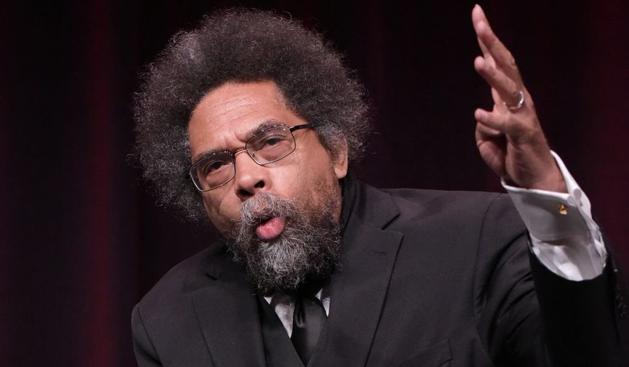"Harvard professor Cornel West said he was in ""deep solidarity"" with Marc Lamont Hill. (Associated Press)"