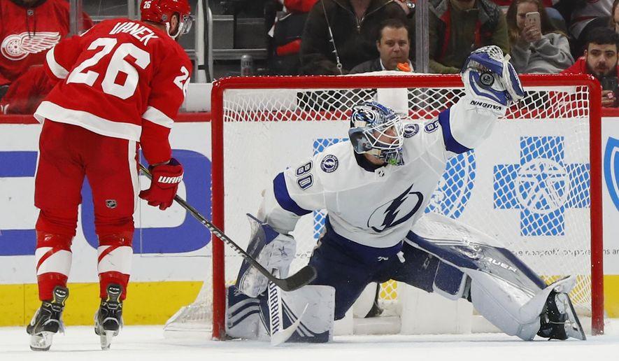 Lightning beat Red Wings 6-5 in shootout - Washington Times
