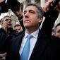 "Michael Cohen has pleaded guilty to lying to Congress about work he did on an aborted project to build a Trump Tower in Russia. He told a judge he lied about the timing of the negotiations and other details to align with Trump's ""political message."" (Associated Press/File)"
