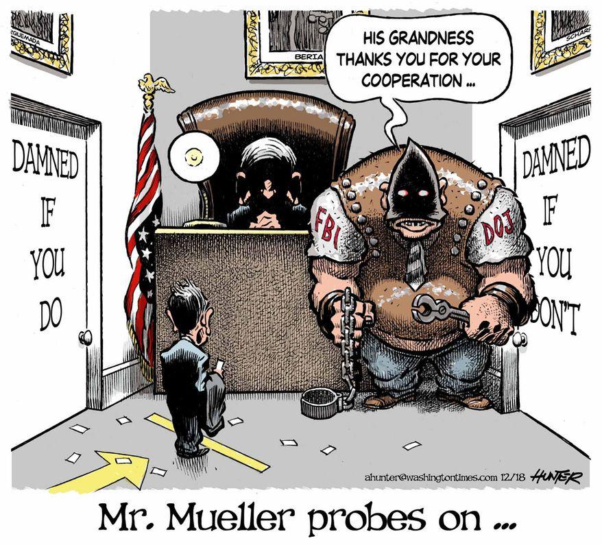 Illustration by Alexander Hunter for The Washington Times (published December 5, 2018)