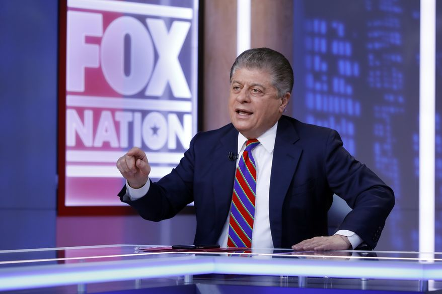 "Fox News senior judicial analyst Andrew Napolitano hosts the inaugural broadcast of ""Liberty File"" on the new streaming service Fox Nation, in New York, Tuesday, Nov. 27, 2018. Fox is becoming the latest television news operation to stake out digital turf. Rather than an attempt to seek out young cord-cutters, Fox Nation is a subscription-based service designed to complement Fox News Channel. (AP Photo/Richard Drew)"