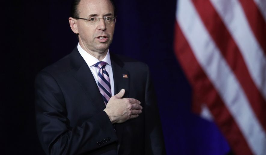 rod rosenstein jokes about trump tension at doj conference