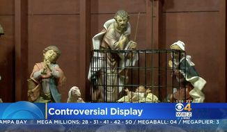 Saint Susanna Parish in Dedham, Massachusetts, is making headlines again ahead of Christmas, this time by placing its nativity scene's baby Jesus in a cage to protest the Trump administration's immigration policies. (CBS)