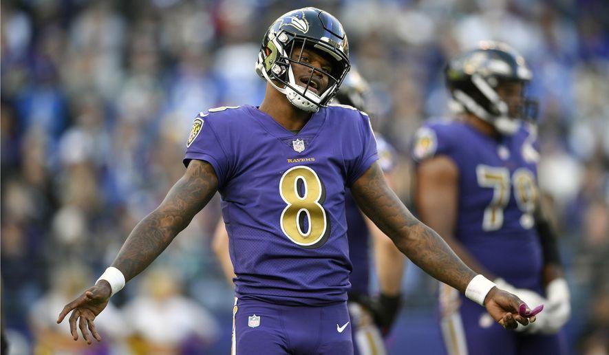 41c68fe97 FILE - In this Nov. 25, 2018, file photo, Baltimore Ravens quarterback