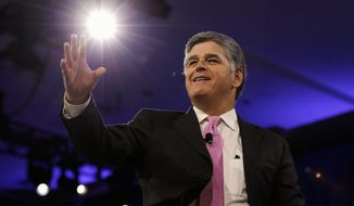 "Fox News prime time host Sean Hannity has been named the No. 1 ""most influential person"" in the news media, topping a list of 75 journalists that was compiled by Mediaite.com. (Associated Press)"