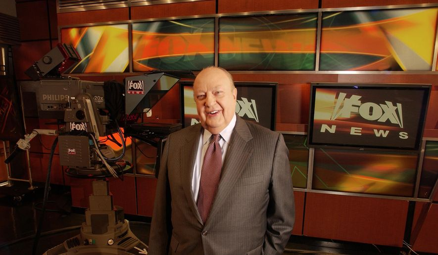 In this Sept. 29, 2006, file photo, Fox News CEO Roger Ailes poses at Fox News in New York. (AP Photo/Jim Cooper, File)