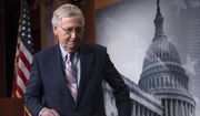 In this Oct. 6, 2018 file photo, Senate Majority Leader Mitch McConnell, R-Ky., finishes speaking to reporters at the Capitol in Washington.   (AP Photo/J. Scott Applewhite) **FILE**