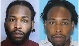 FILE - This combination of undated photos provided by the Montgomery County District Attorney's Office in Norristown, Pa., shows Jonathan  Harris, of Johnstown, Pa. Harris, accused of strangling a model in one of Philadelphia's affluent suburbs pleaded not guilty Friday, Dec. 7, 2018, to murder charges, days after a suspect in the burglary of her apartment was taken into custody. (Montgomery County District Attorney's Office via AP, File)