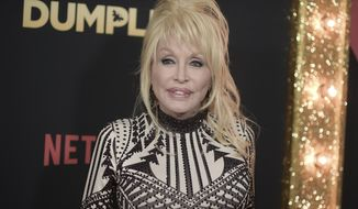 """Dolly Parton attends the world premiere of """"Dumplin'"""" at TCL Chinese Theatre on Thursday, Dec. 6, 2018, in Los Angeles. (Photo by Richard Shotwell/Invision/AP)"""