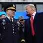 President Trump announced over the weekend that Army Chief of Staff Gen. Mark Milley (left) will be the next chairman of the Joint Chiefs of Staff. Gen. Milley will replace Marine Corps Gen. Joseph Dunford, who has held the position since 2015. (Associated Press)