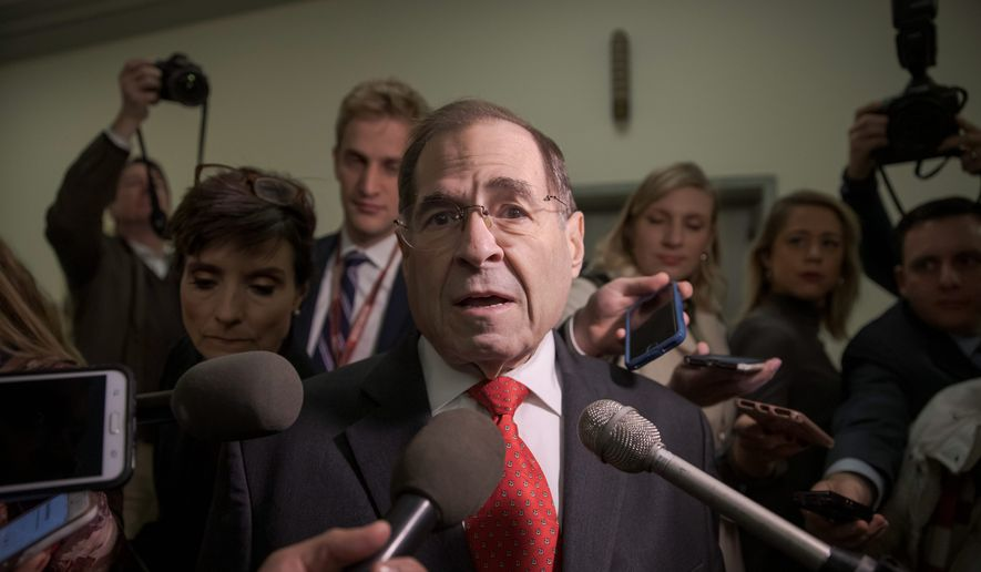 Rep. Jerrold Nadler, New York Democrat, is the incoming chairman of the Judiciary panel. (Associated Press/File)