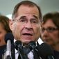 In this Sept. 28, 2018, file photo, House Judiciary Committee ranking member Jerry Nadler, D-N.Y., talks to media during a Senate Judiciary Committee hearing on Capitol Hill in Washington. (Associated Press/File)