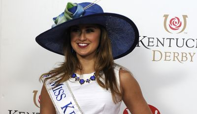 Ramsey Carpenter arrives on the red carpet at the 2015 Kentucky Derby on Saturday, May 2, 2015 at Churchill Downs in Louisville, Ky. (Photo by Joe Imel/Invision/AP)