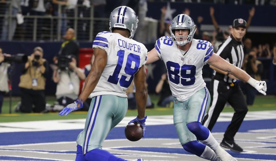 d2cedaade937b Dallas Cowboys wide receiver Amari Cooper (19) scores on a 15-yard catch