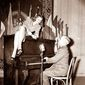 Harry S Truman at the piano with Lauren Bacall. (Associated Press) ** FILE **