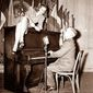 Harry S Truman at the piano with Lauren Bacall    Associated Press photo
