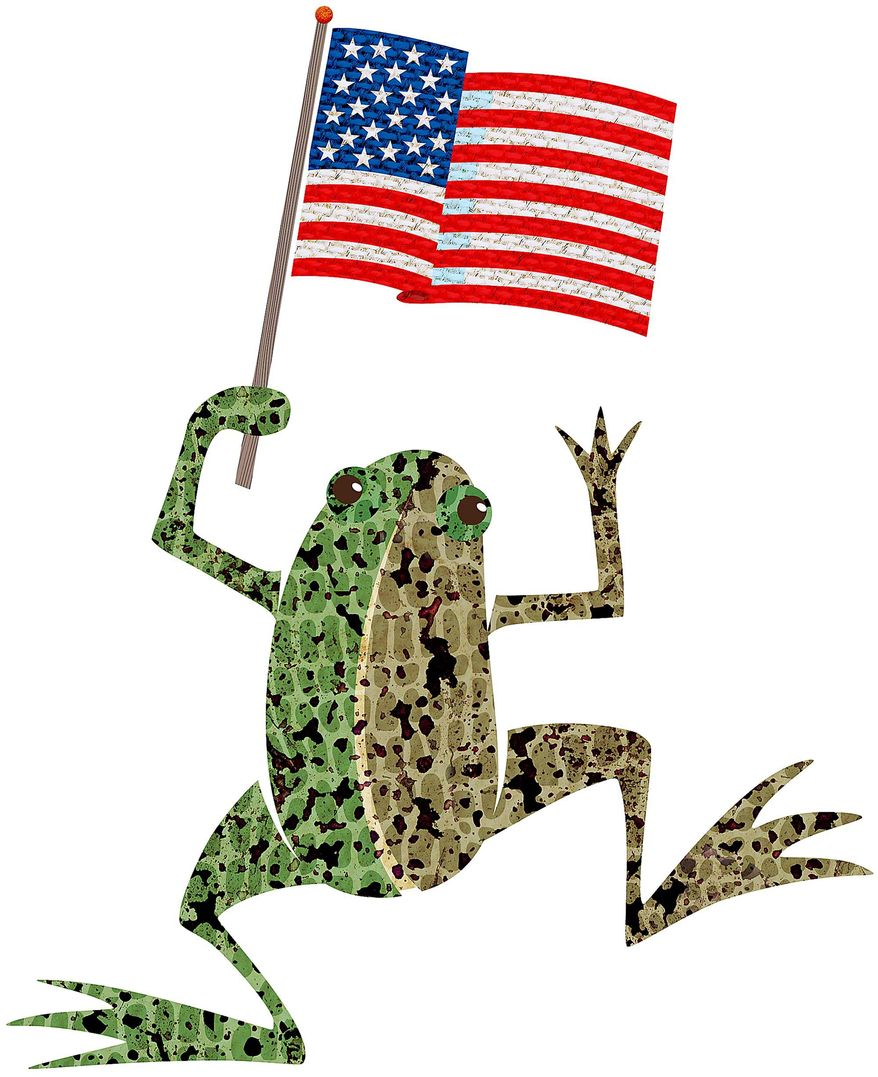 Saved by a Frog Illustration by Greg Groesch/The Washington Times